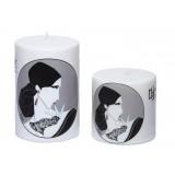 شمع تزئینی استوانه ای طرح چاپی مدل چینی