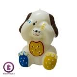 شمع عروسکی مدل سگ چشمی