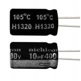 خازن الکترولیتی 10 میکروفاراد 400 ولت Nichicon