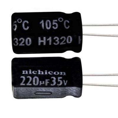 خازن الکترولیتی 220 میکروفاراد 10 ولت Nichicon