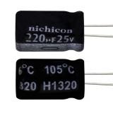 خازن الکترولیتی 220 میکروفاراد 25 ولت Nichicon