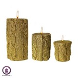 شمع استوانه ای مدل بافت