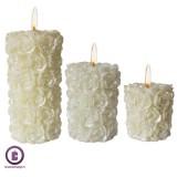 شمع استوانه ای مدل گل های ریز