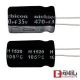 خازن الکترولیتی 470 میکروفاراد 35 ولت Nichicon