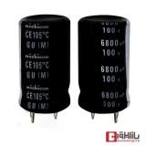 خازن الکترولیتی 6800 میکروفاراد 100 ولت Nichicon
