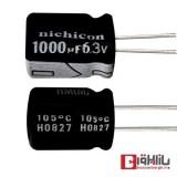 خازن الکترولیتی 1000 میکروفاراد 6.3 ولت Nichicon