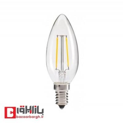 لامپ ال ای دی فیلامنتی شمعی 4 وات نمانور