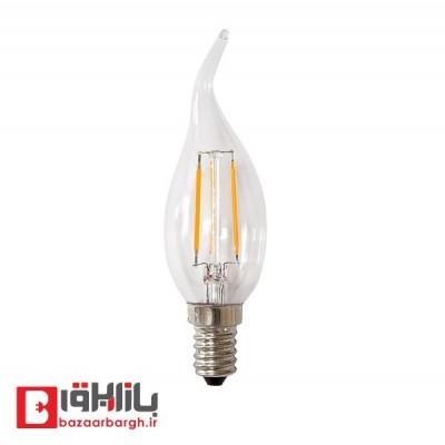 لامپ ال ای دی فیلامنتی شمعی 3 وات افراتاب