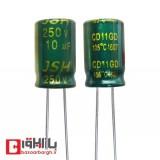 خازن الکترولیتی 10 میکروفاراد 250 ولت jsh