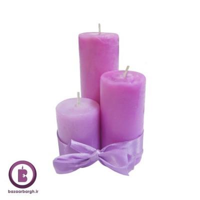 شمع استوانه ای پک سه تایی