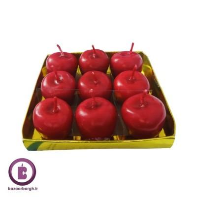 شمع مدل سیب پک 9 تایی