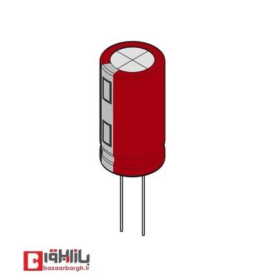 خازن الکترولیتی 100 میکروفاراد 25 ولت