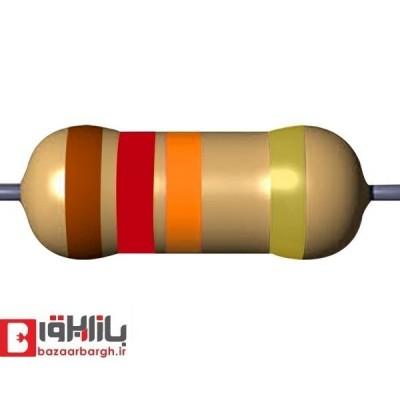 مقاومت الکتریکی 12کیلواهم 1/4 وات