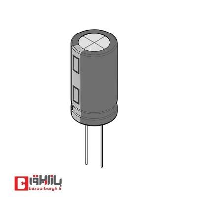 خازن الکترولیتی 10 میکروفاراد 100 ولت Hitano