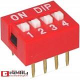 دیپ سوئیچ ۴ کاناله DIP SWITCH-04RN
