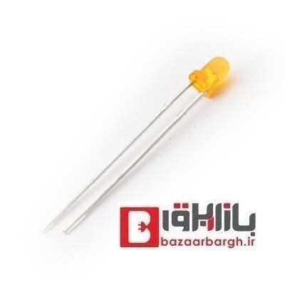دیود نوری (ال ای دی)3 میلی متری زرد خودرنگ