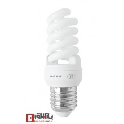 لامپ کم مصرف فنری 14 وات نمانور استاندارد (E27)