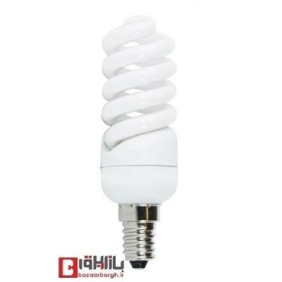 لامپ کم مصرف فنری 14 وات نمانور استاندارد (E14)