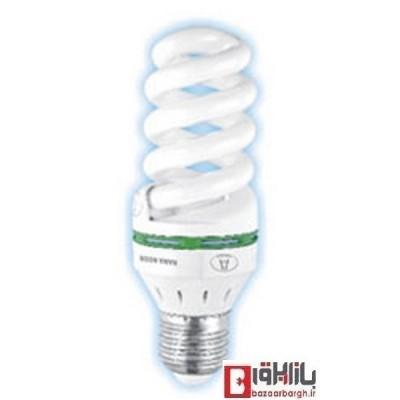 لامپ کم مصرف فنری 18 وات نمانور استاندارد (E27)