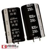 خازن الکترولیتی 820 میکروفاراد 250 ولت Nichicon