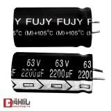 خازن الکترولیتی 2200 میکروفاراد 63 ولت FUJY