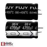 خازن الکترولیتی 4700 میکروفاراد 35 ولت FUJY
