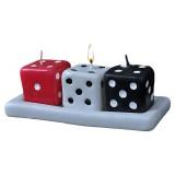 شمع فانتزی مدل تاس (سه تایی)