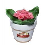 شمع گل فانتزی مدل گلدان شش پر